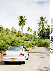 car on road; Grenada - car on road, Grenada