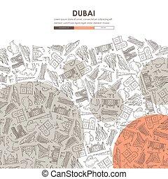 Dubai Doodle Website Template Design - Dubai Website...