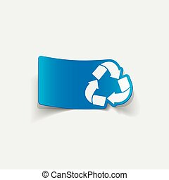 realistic design element: recycle sign