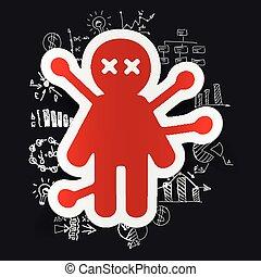Drawing business formulas: voodoo Doll