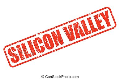 SILICON VALLEY red stamp text on white
