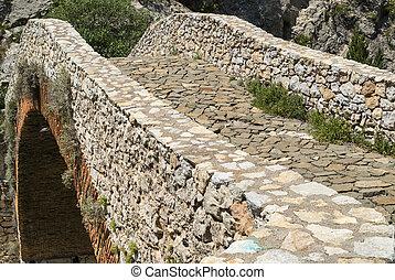 Noguera Catalunya, historic bridge - Noguera Catalunya,...