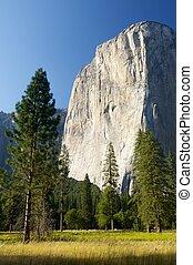 El Capitan - Capitan view in Yosemite Valley, California,...
