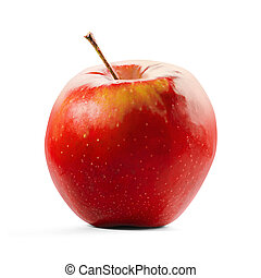 Red Apple isolated on white with clipping path