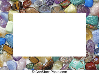 Healing Crystal Gemstone Border - A solid landscape oriented...
