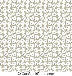 White coffee pattern - White coffee beans seamless pattern...