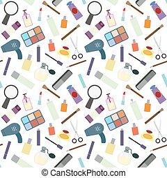 Cosmetics seamless pattern.