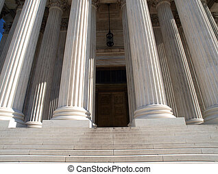 Supreme Court Door - The historic front door of the Supreme...