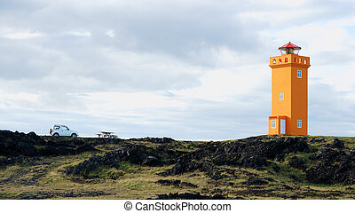 Lighthouse in Snaefellsnes, Iceland - Fourwhell drive to...