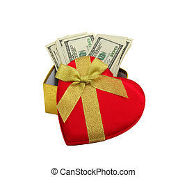 red heart and dolar - red heart and dolar .concept - the...