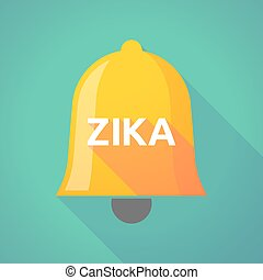 """Illustration of the word """"Zika""""   in a bell icon"""