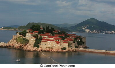 Beautiful island town in Montenegro, Budva - Beautiful...