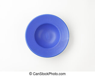 deep blue plate with wide rim