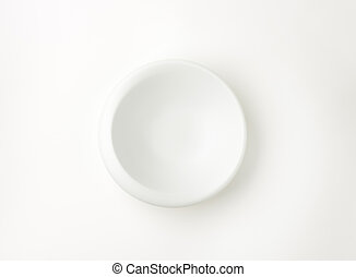 white bowl with irregular rim - empty white bowl with...
