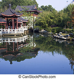 chinese garden - the scene of the chinese garden in yuyuan...