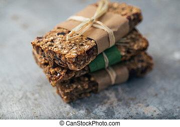 Granola bars - Group of delicious granola bars
