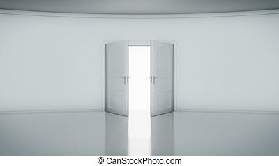 Door Opening with white background (alpha matte). You can...