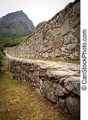 Inca trail near machupichu