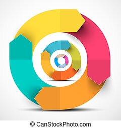 Colorful Paper Vector Circle Arrows
