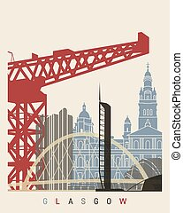 Glasgow skyline poster - Glasgowskyline poster in editable...
