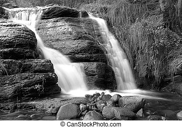 Wilderness Falls - Tonto Creek waterfall in white mountains...