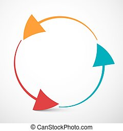 Arrows in Circle Vector Illustration - Loop Infinity Symbol