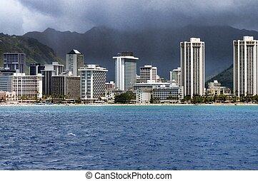 Honolulu Hawaii - waikiki beach honolulu Hawaii