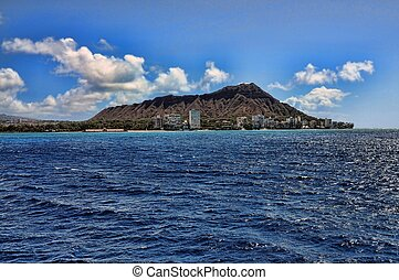 Diamond Head Oahu Hawaiian Islands USA