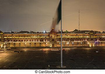 Zocalo central square of mexico city.