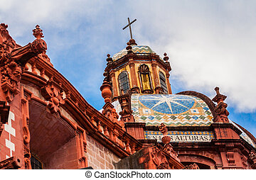 Church of Taxco, Guerrero. Mexico. Outside.