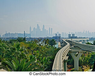 monorail in Dubai city, United Arabian Emarates