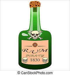 bottle of pirate rum