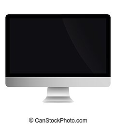 Illustration Graphic Vector Computer with black screen for...