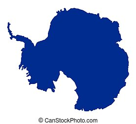 Antarctica SIlhouette Map