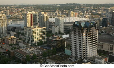 Aerial View Timelapse Vancouver, Canada - Aerial view time...