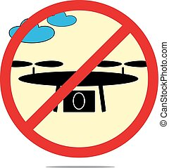Illustration of drones isolated