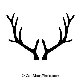 Deer antlers. Horns icon isolated on white background....