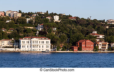 Buildings in Bosphorus Strait, Istanbul City, Turkey