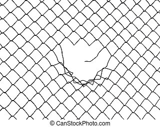 Wire fence - Metal wire fence protection chainlink...