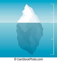 iceberg in the North Sea illustration background