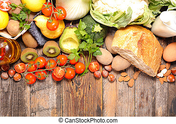 composition with diet and healthy food