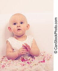 Little girl child portrait - Happy childhood Lovely little...