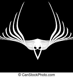 abstract raven - illustration of abstract wings