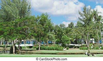 Landscape of tropical resort