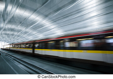 train motion blur
