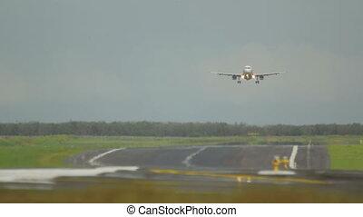 Airbus 320 landing at Phuket - Airbus 320 landing, hot...