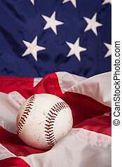 American Baseball - A baseball with an American Flag...
