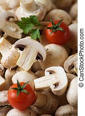 Champignon or white button mushroom