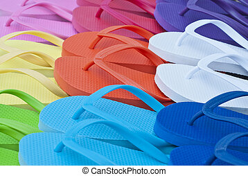 Colorful Flipflops Close Up