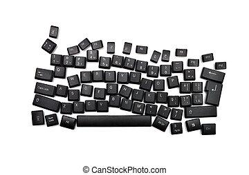 Dislexia, negro, teclado,